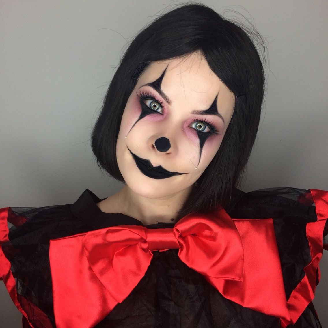 creepy clown halloween makeup tutorial