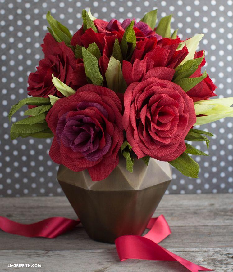crepe paper roses tutorial