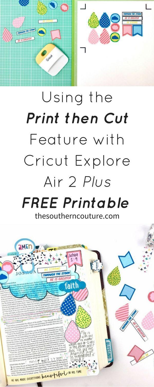cricut explore print and cut tutorial
