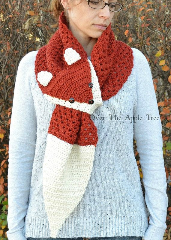 crochet fox scarf tutorial