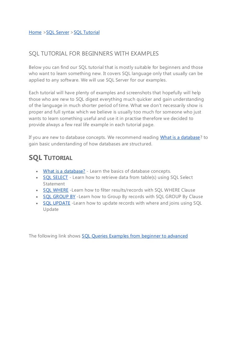 sql ssrs tutorial pdf