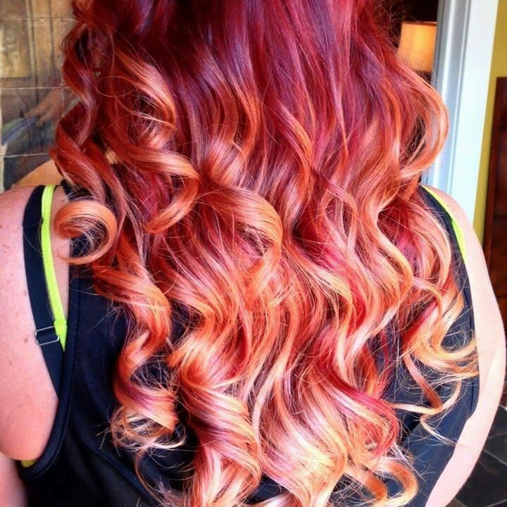 red to blonde ombre tutorial
