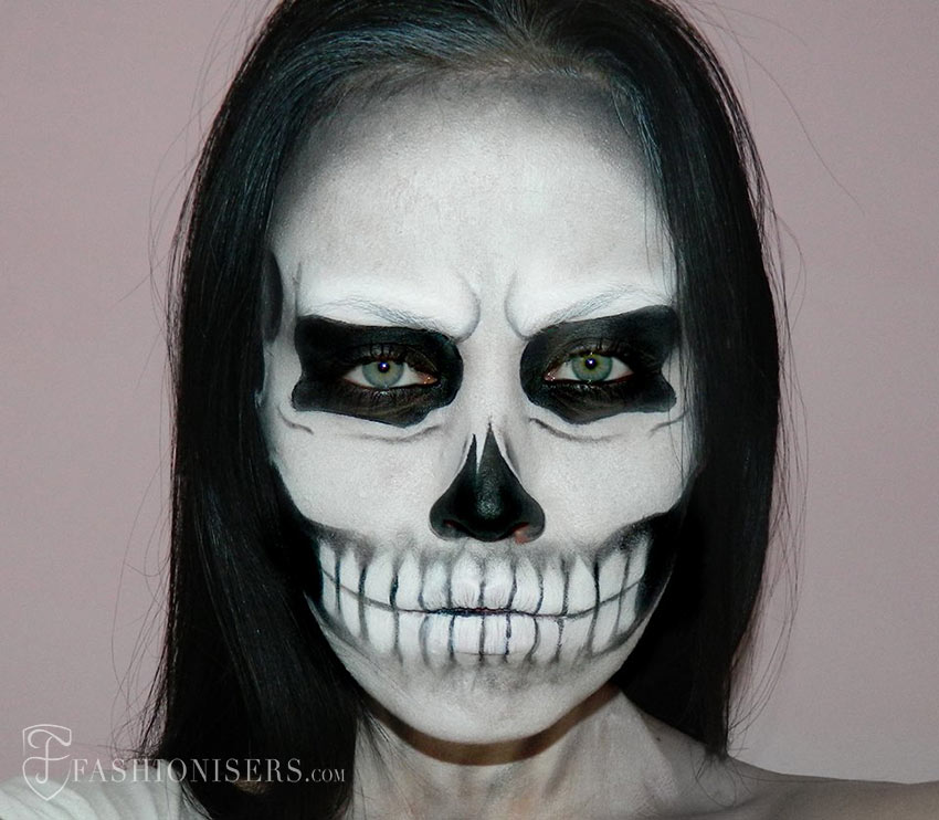 lady gaga skeleton makeup tutorial
