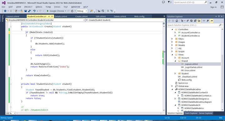 entity framework tutorial codeproject