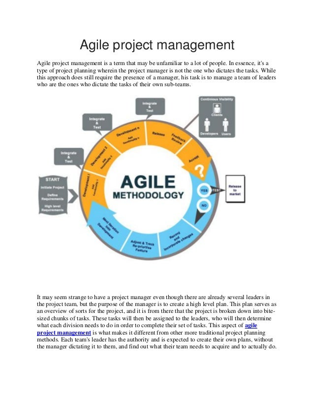 agile project management tutorial pdf