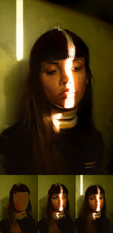 digital painting lighting tutorial