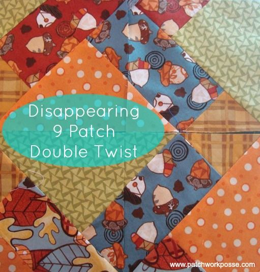 disappearing four patch quilt block tutorial
