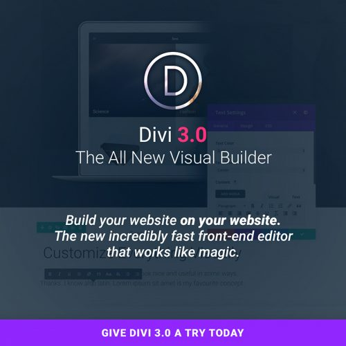 divi 3.0 theme tutorial