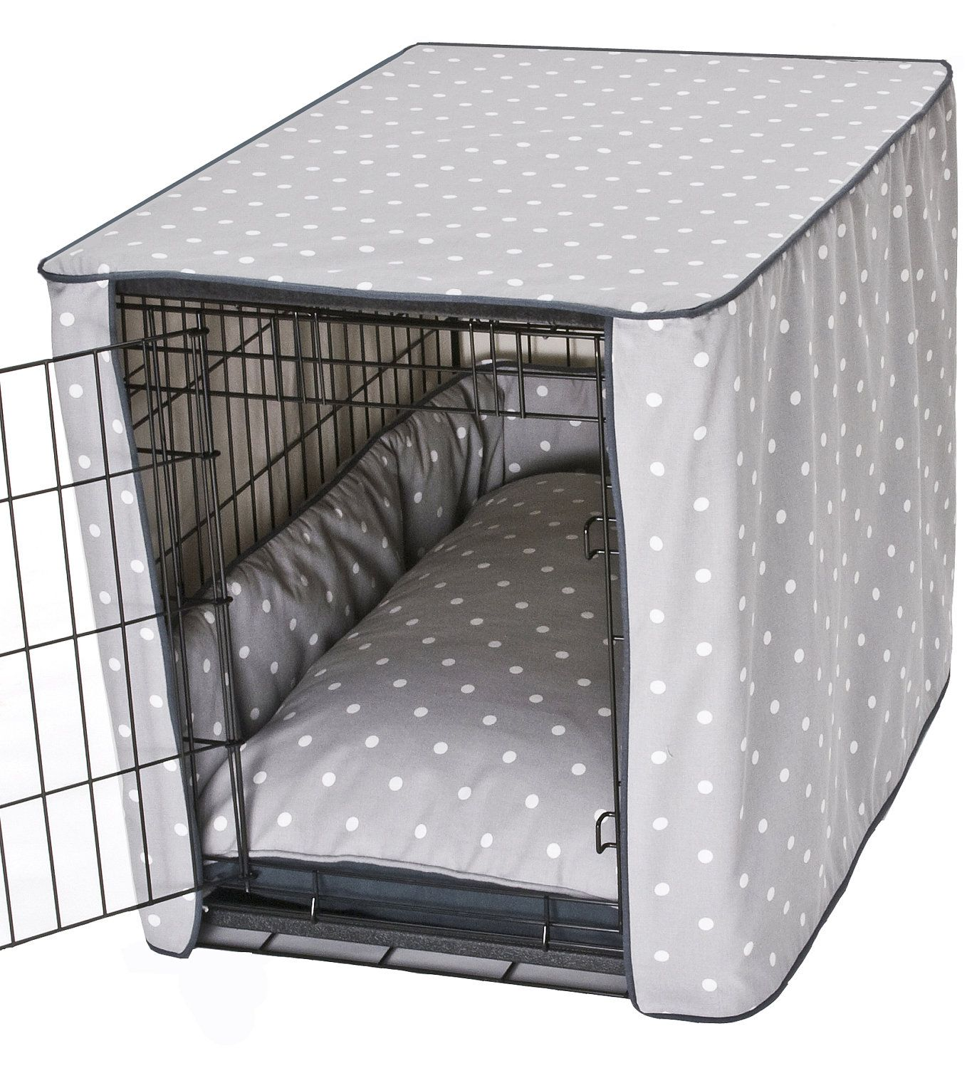 diy dog crate cover tutorial