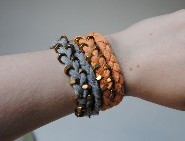 diy hex nut bracelet tutorial