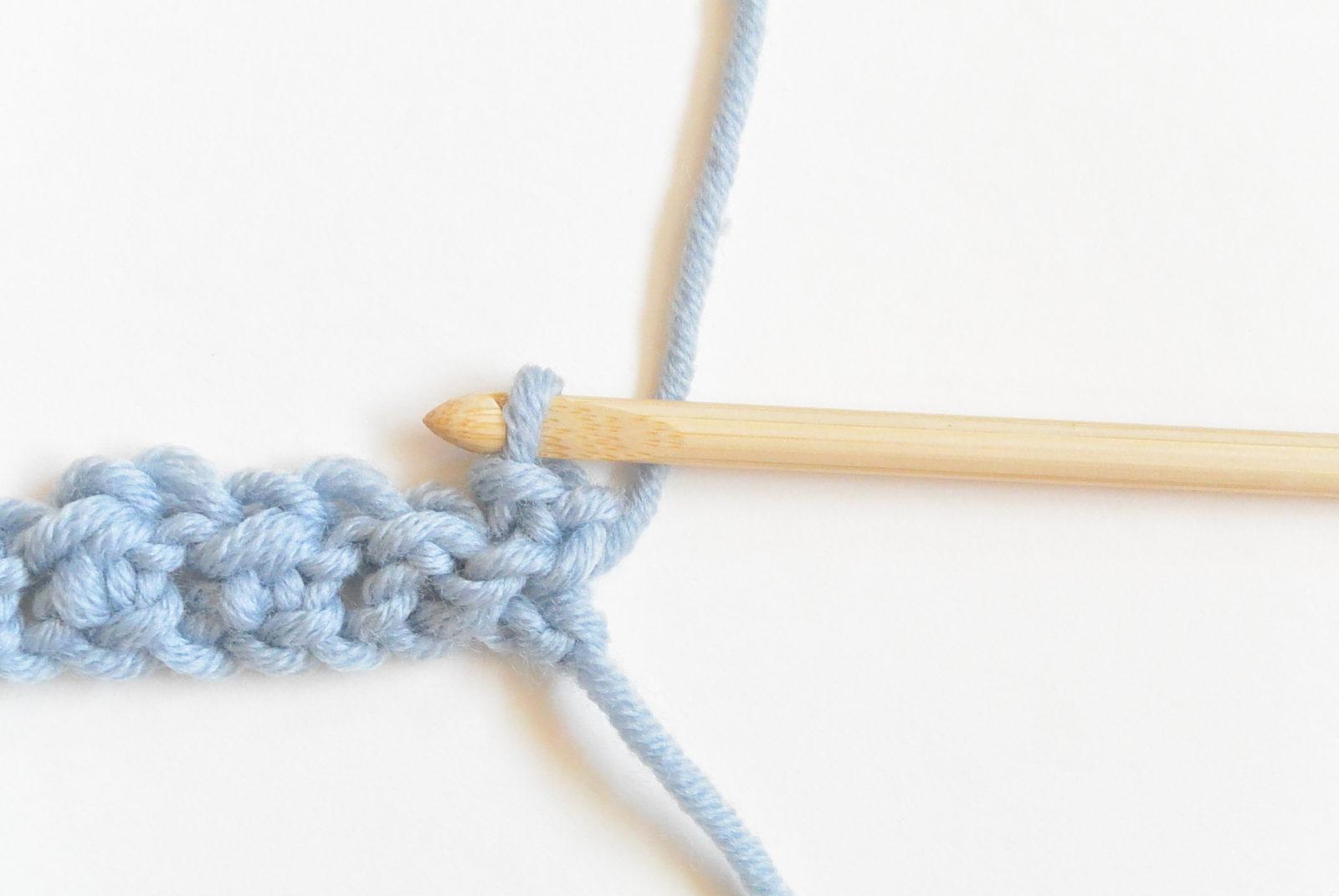 double crochet foundation row tutorial