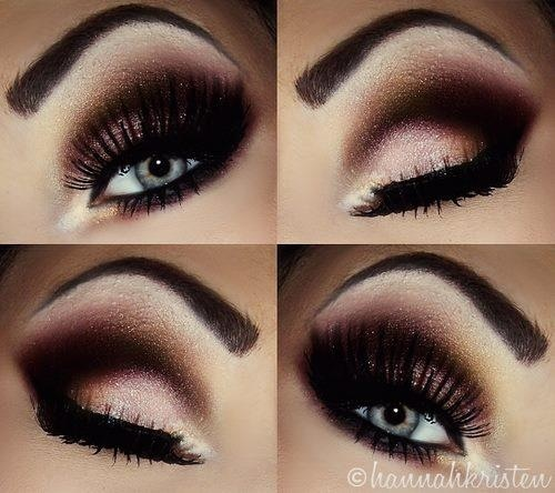 dramatic eye makeup tutorial for blue eyes