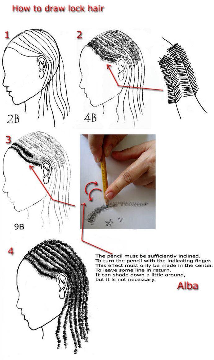 drawing hair tutorial deviantart
