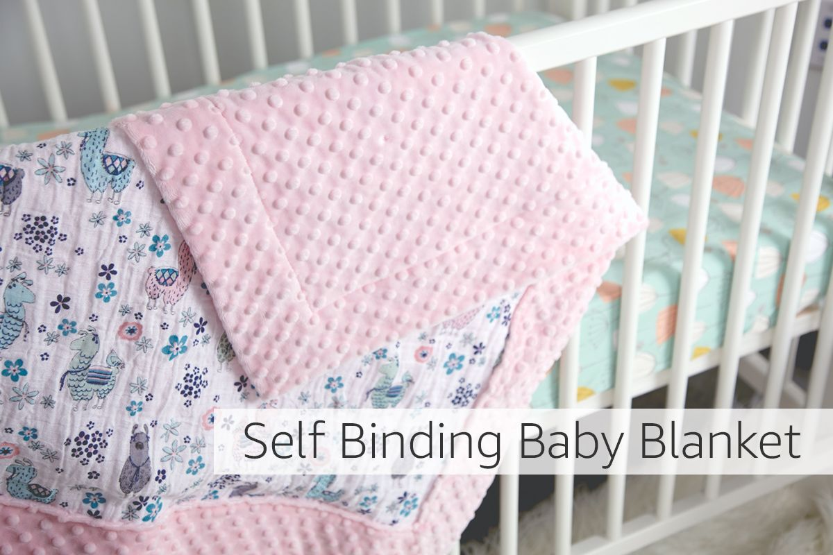 baby blanket binding tutorial