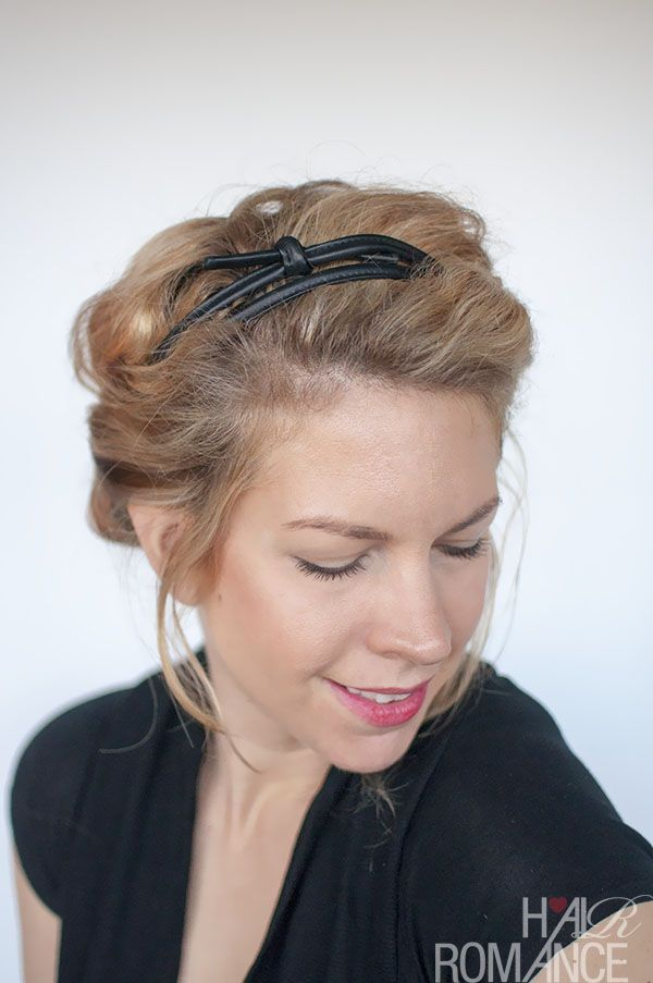 rolled back updo tutorial