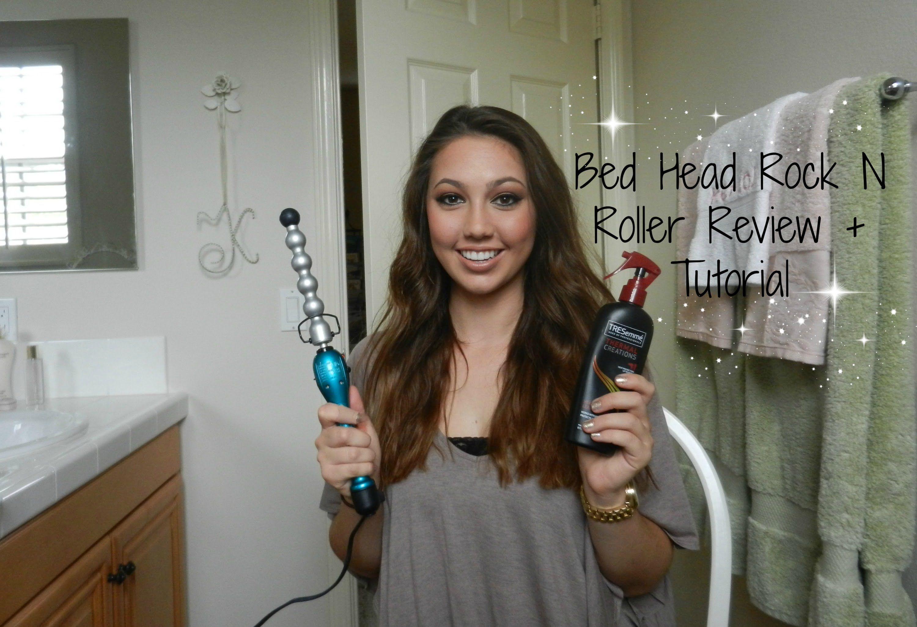 plugged in curling wand tutorial