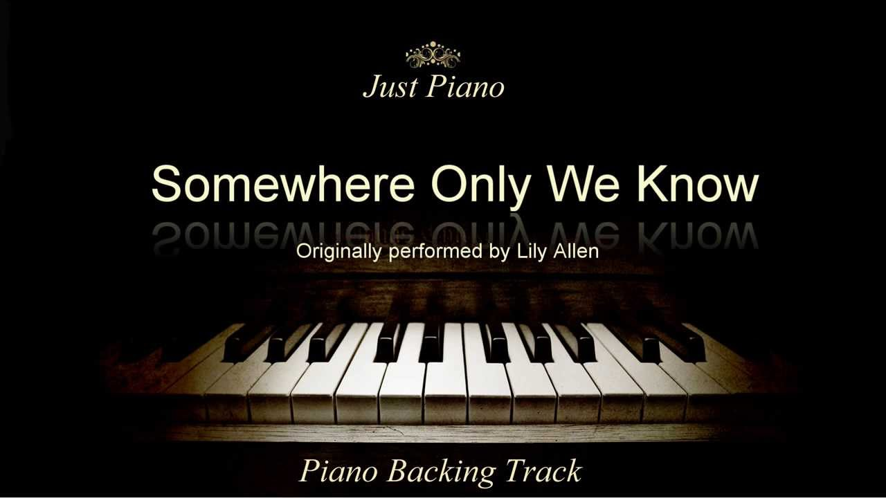 lily allen somewhere only we know piano tutorial