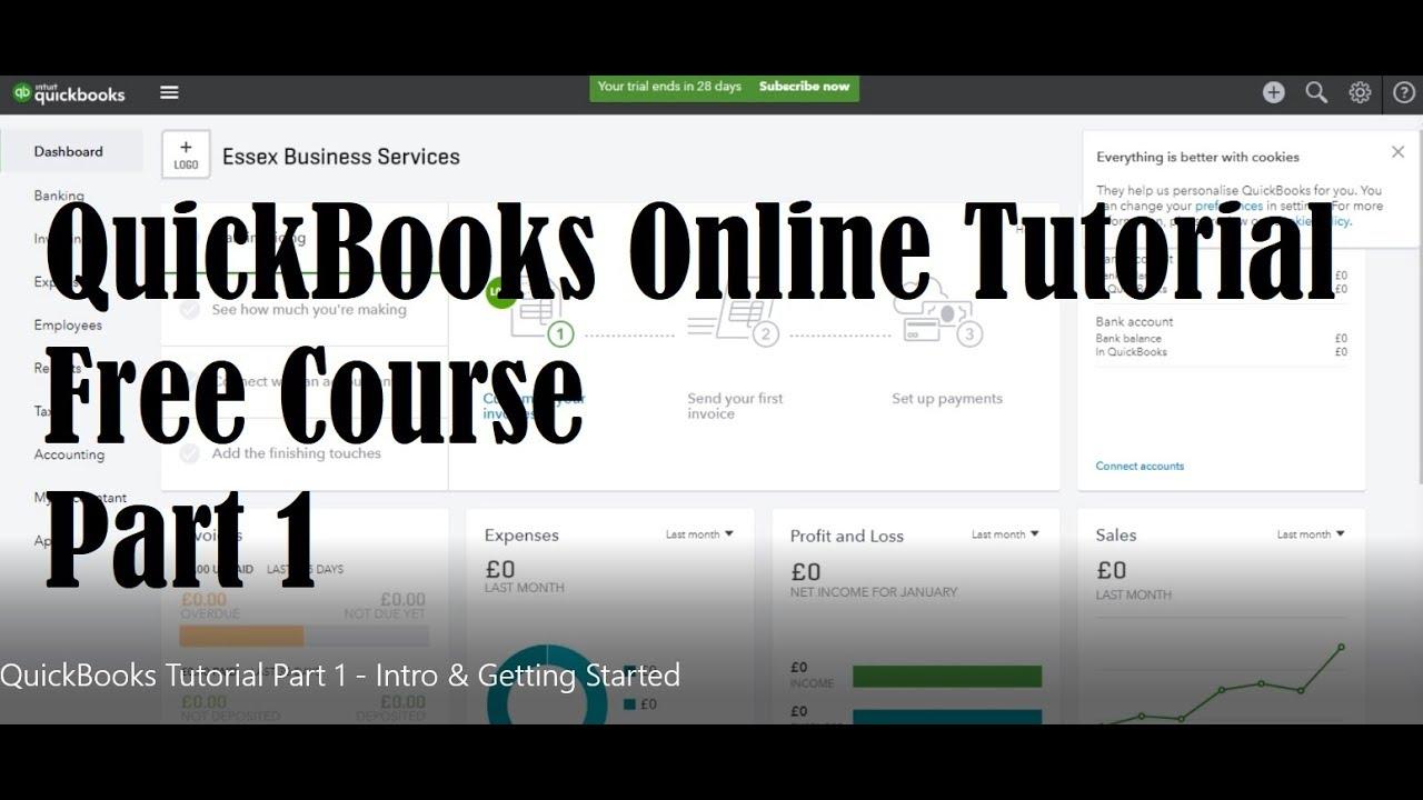 quickbooks 101 free tutorial