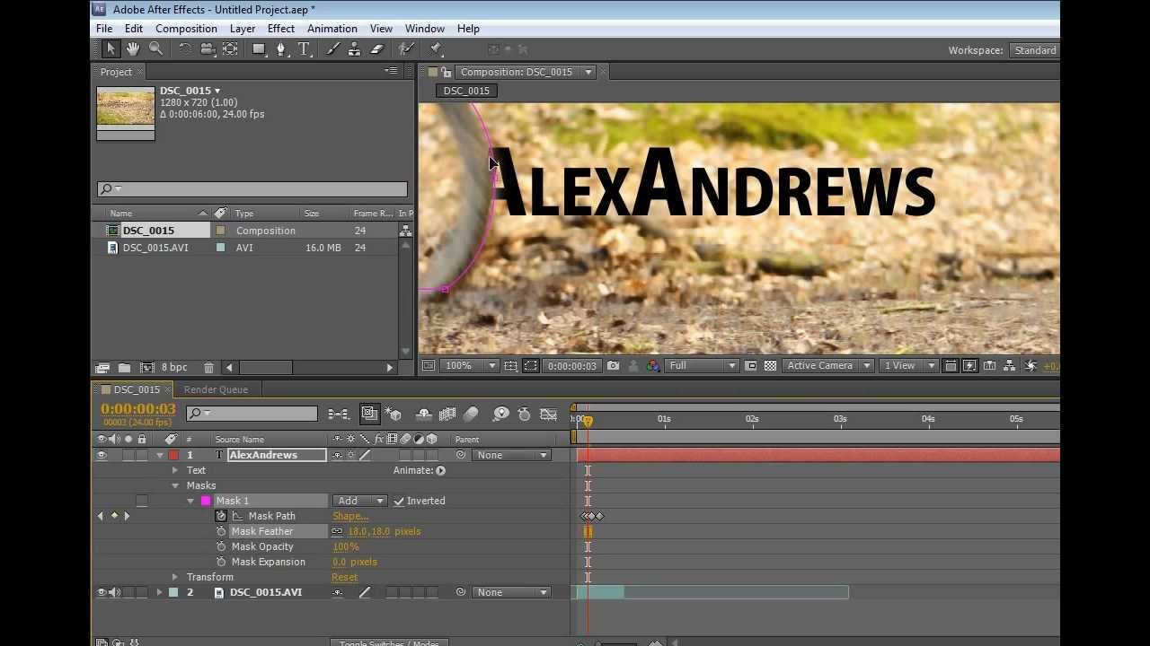 title animation after effects tutorial