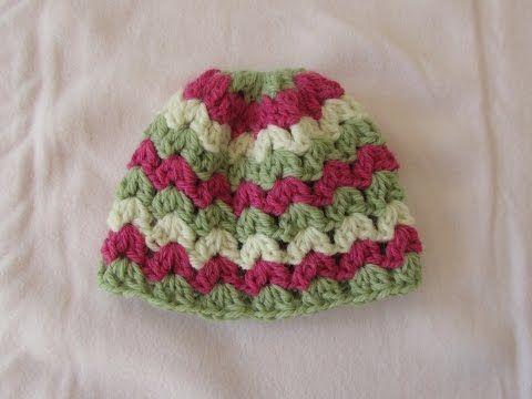 easy crochet baby hat tutorial