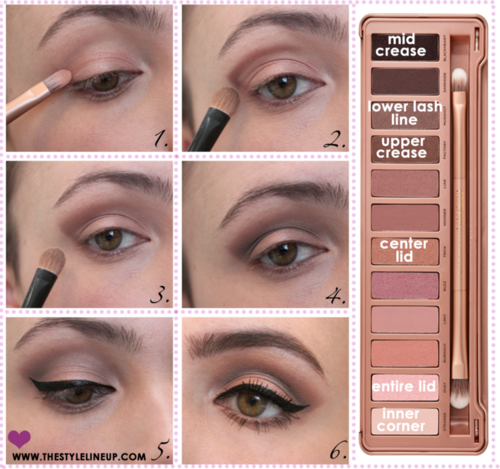 urban decay naked eyes palette 1 tutorial