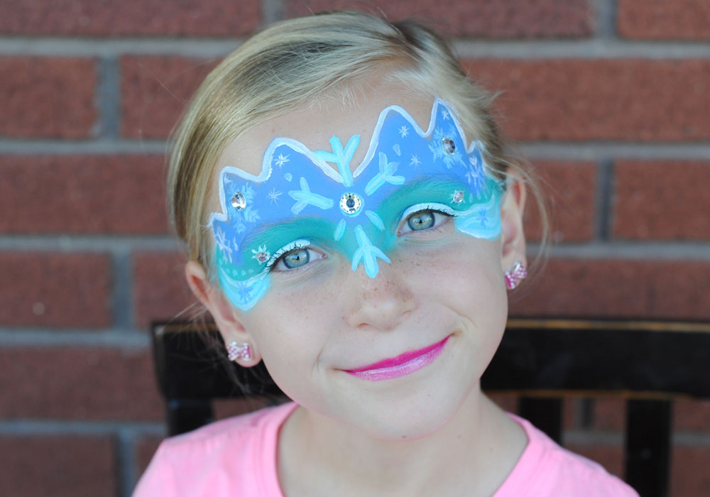 elsa face paint tutorial