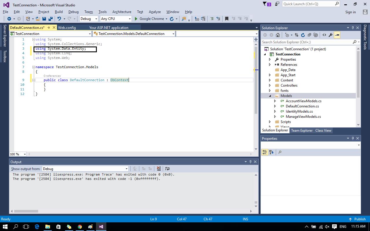 entity framework tutorial c# mvc