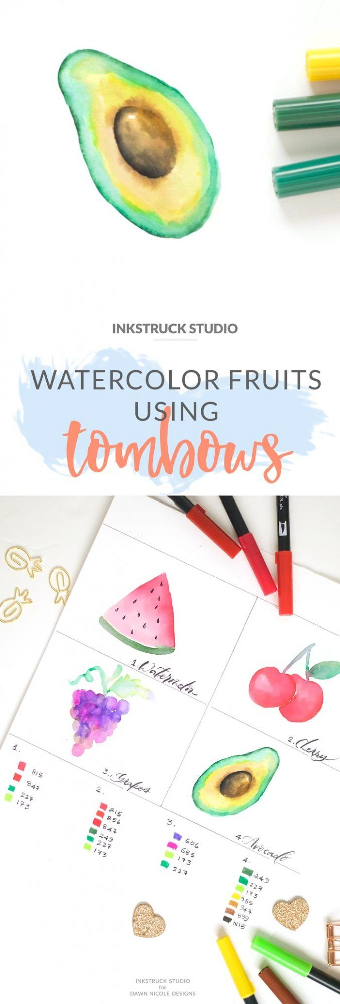 pen and watercolor tutorial