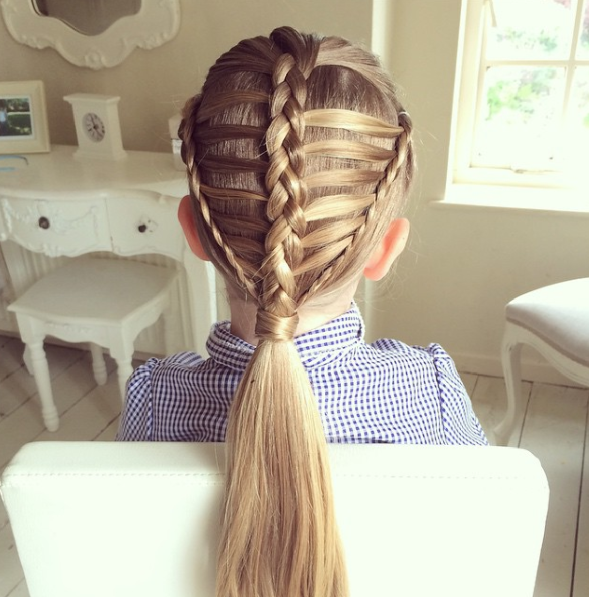 two braids with weave tutorial