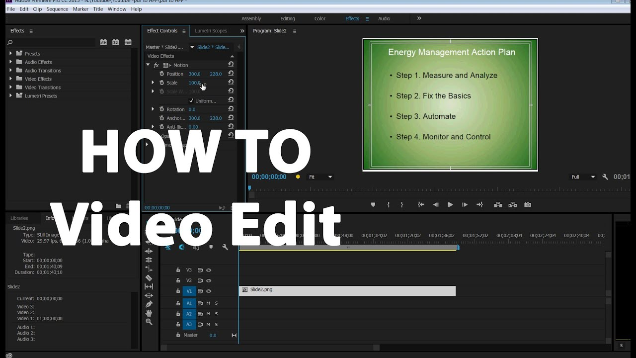 adobe premiere tutorial ppt