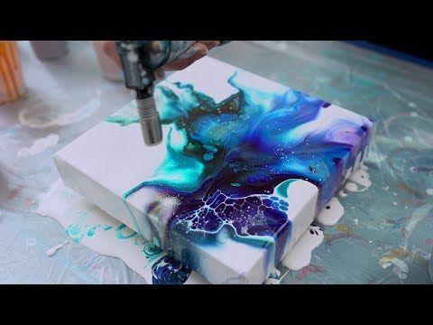 fluid art painting tutorial