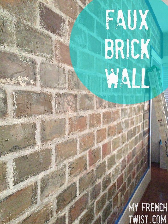 faux brick wall tutorial