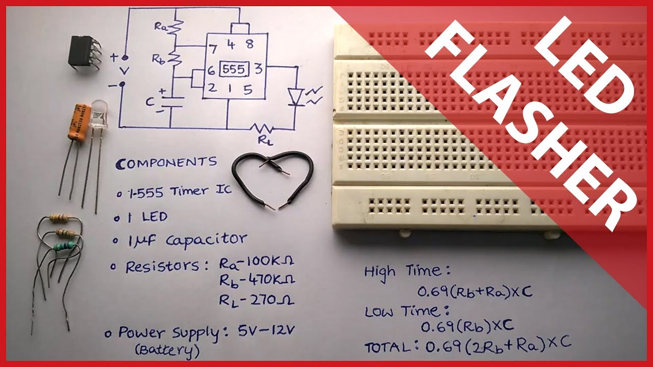 555 timer led flasher tutorial