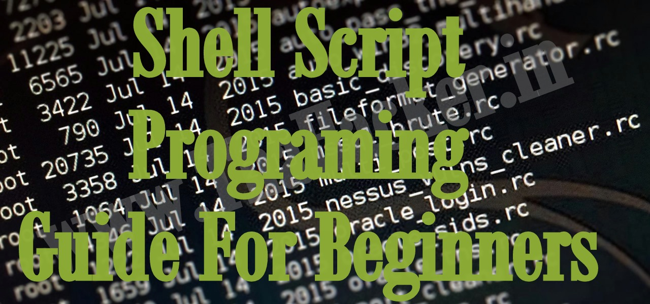 unix shell scripting tutorial for beginners