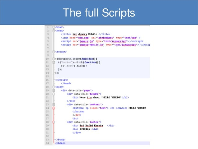 jquery mobile tutorial pdf