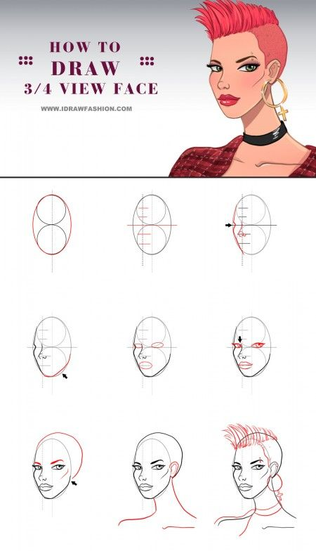 female face drawing tutorial