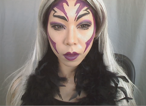 female grim reaper makeup tutorial