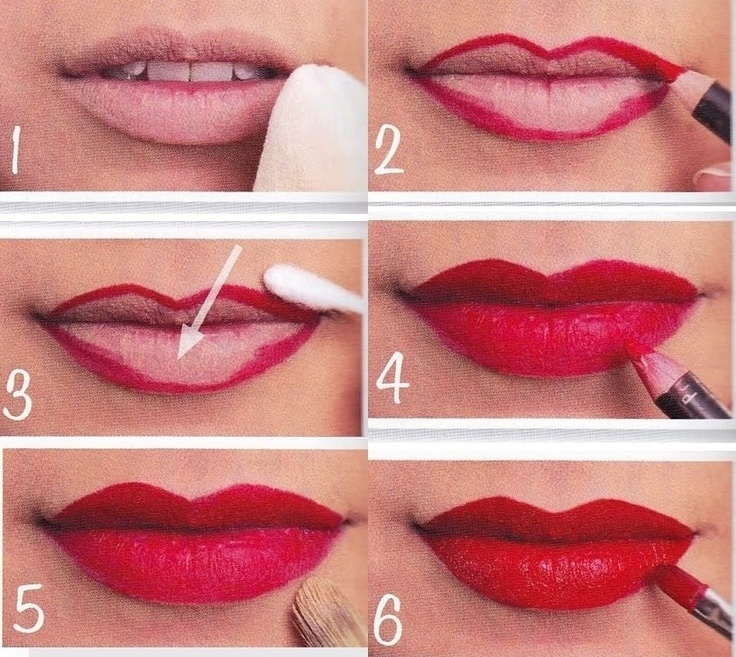 red lipstick makeup tutorial