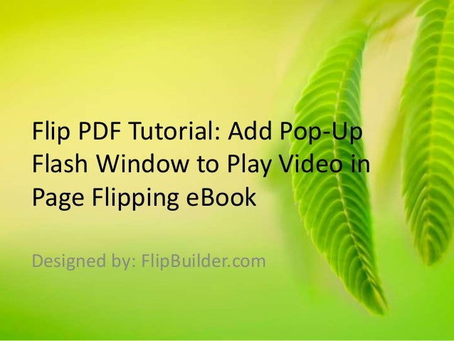 flash page flip tutorial