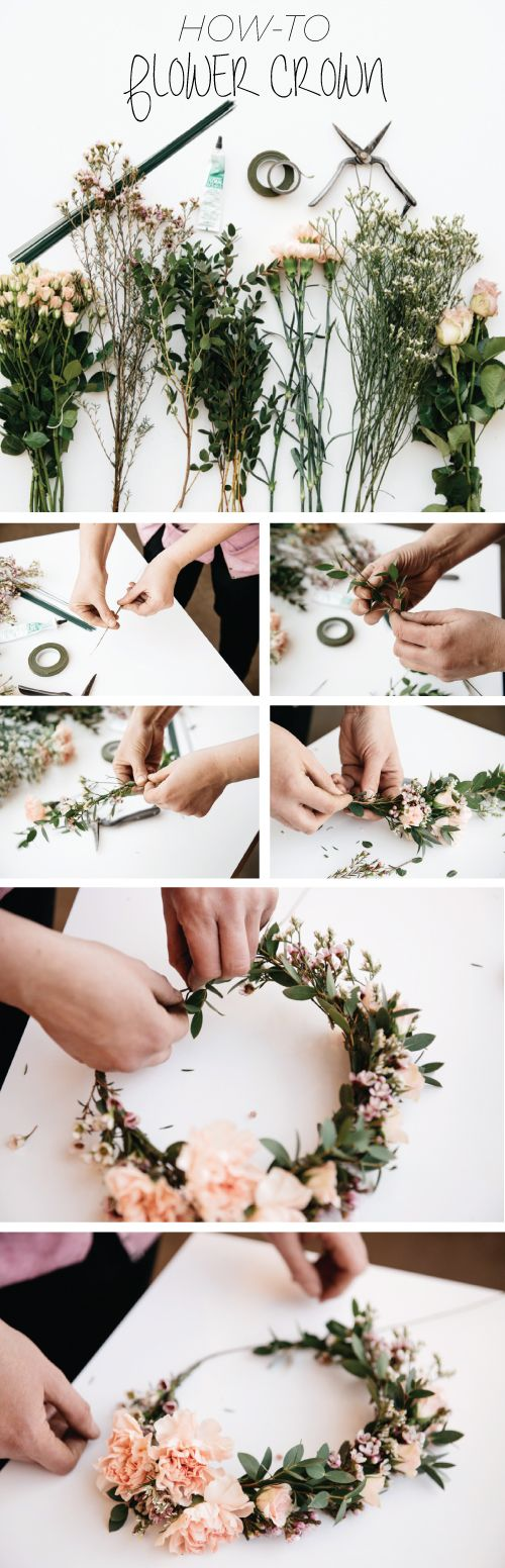 fresh flower crown tutorial