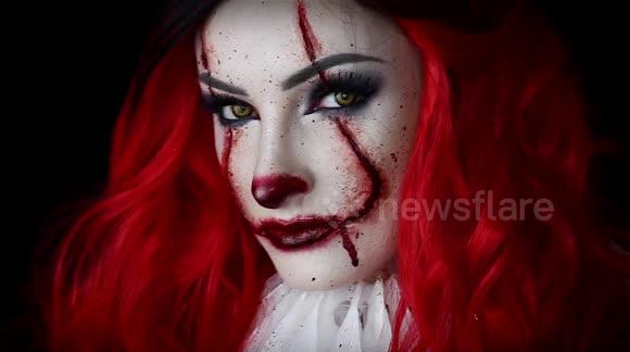 girl clown makeup tutorial