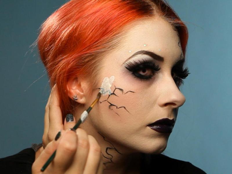 glam goth makeup tutorial