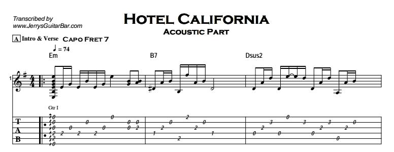 guitar tutorial for hotel california