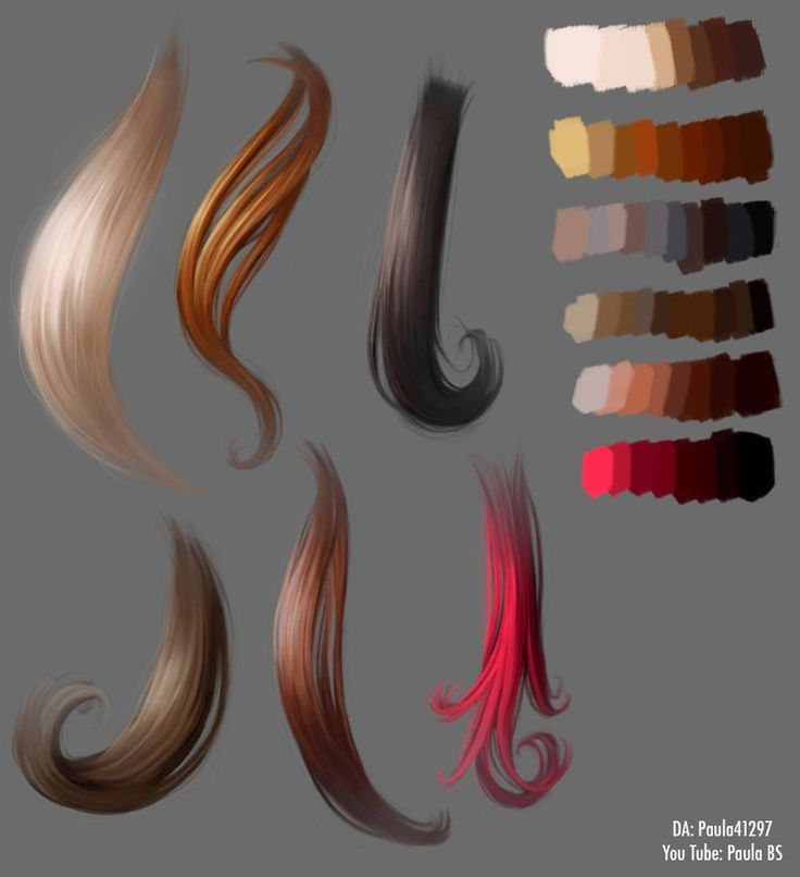 hair tutorial digital art