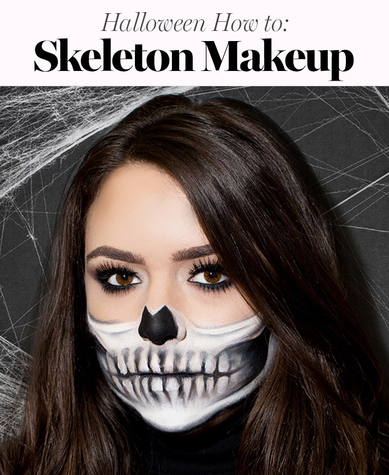 half skull makeup tutorial