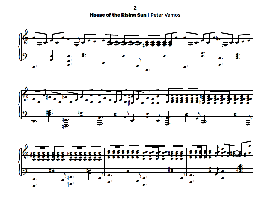 house of the rising sun piano tutorial