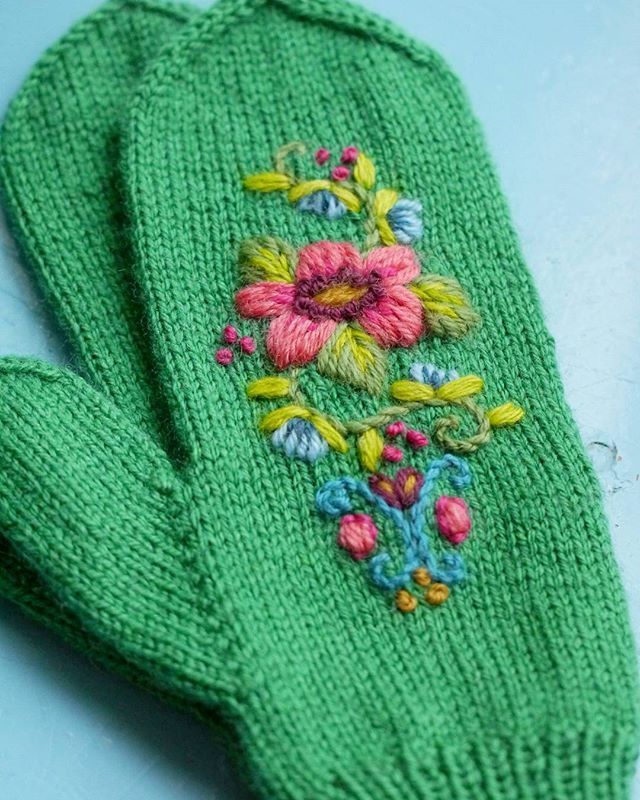 how to embroider on socks tutorial