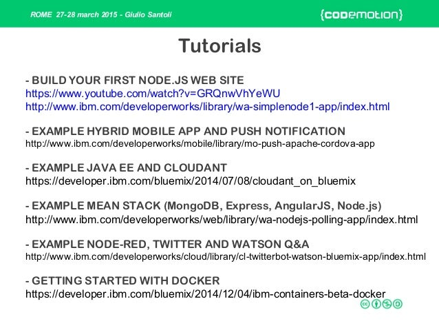 ibm bluemix java tutorial