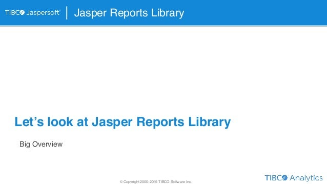jaspersoft studio tutorial pdf