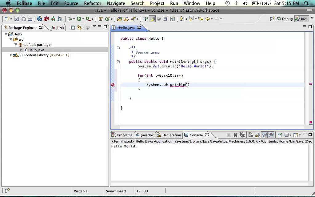 java and eclipse tutorial